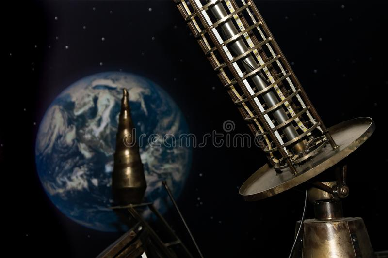 View of the earth from the space satellite royalty free stock photography