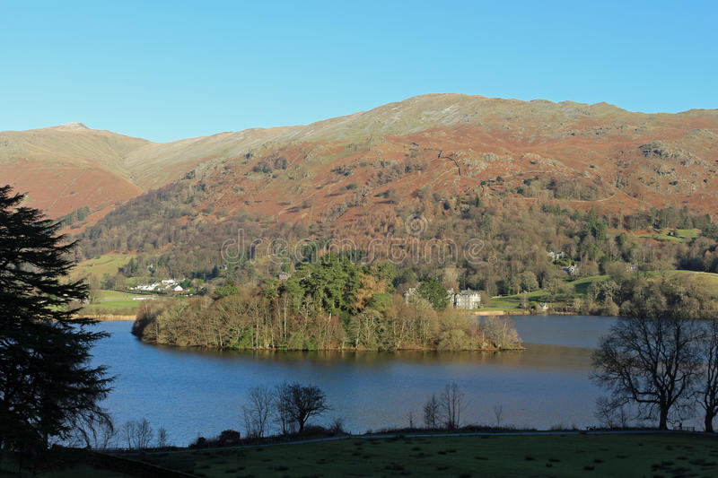 View east across Grasmere in the English Lake District, Cumbria stock photos