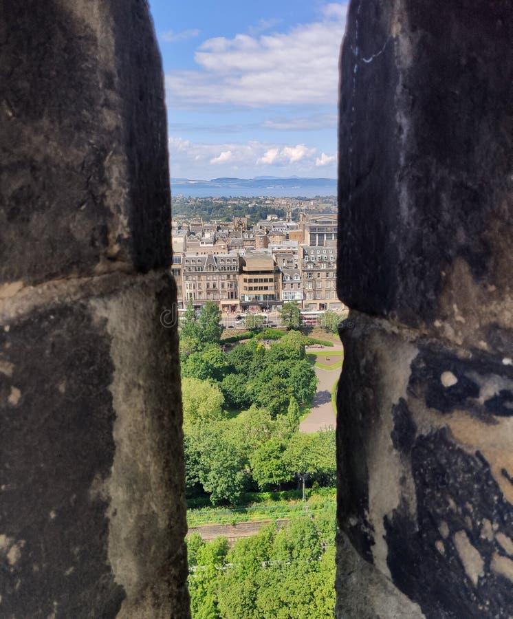 View from Edinburgh Castle royalty free stock photos