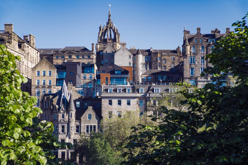 A view of Edinburgh Old Town, Scotland, UK. stock images