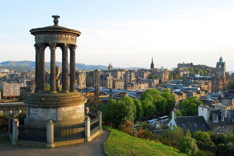 The view of Edinburgh stock photo