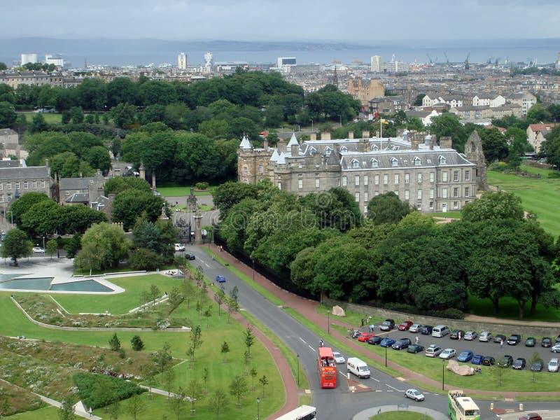 View of Edinburgh skyline. Edinburgh, Scotland - September 6, 2007: view of Edinburgh skyline with the castle in background stock image