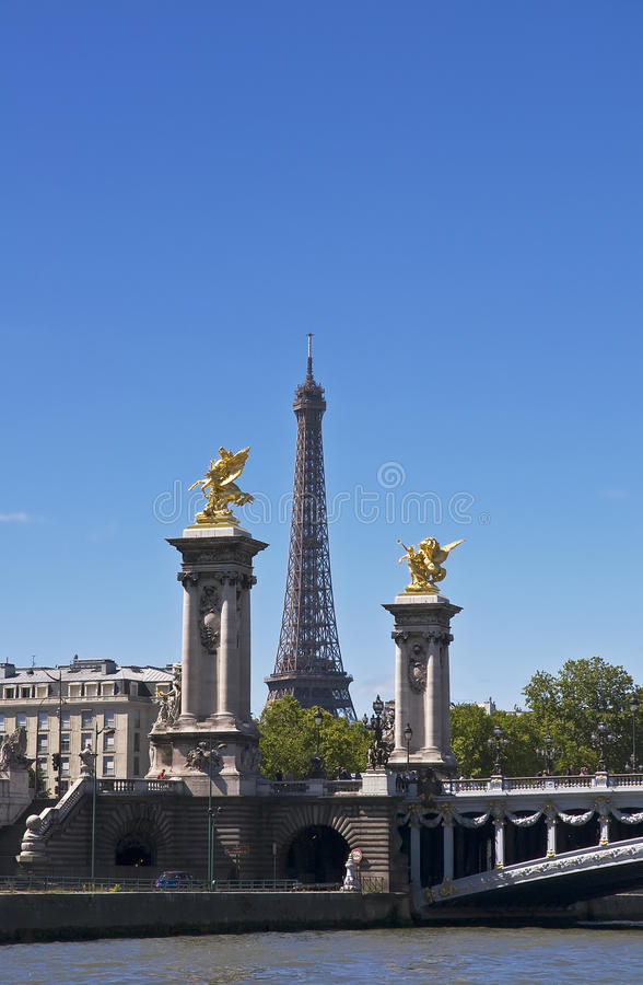 View of the Eiffel Tower stock image