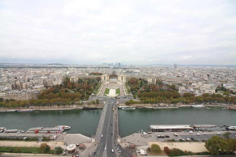 View from Eiffel Tower, Paris France stock photo
