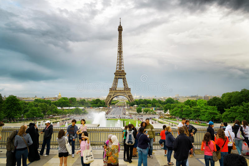 The view of the Eiffel Tower, Paris, France. royalty free stock images