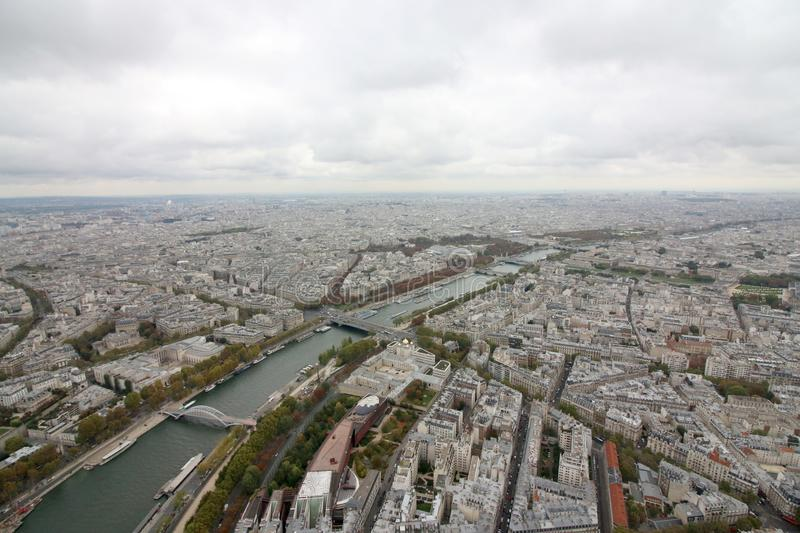 View from Eiffel Tower, Paris France royalty free stock photo