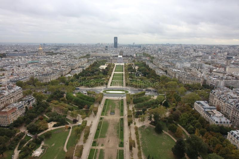 View from Eiffel Tower, Paris France stock image