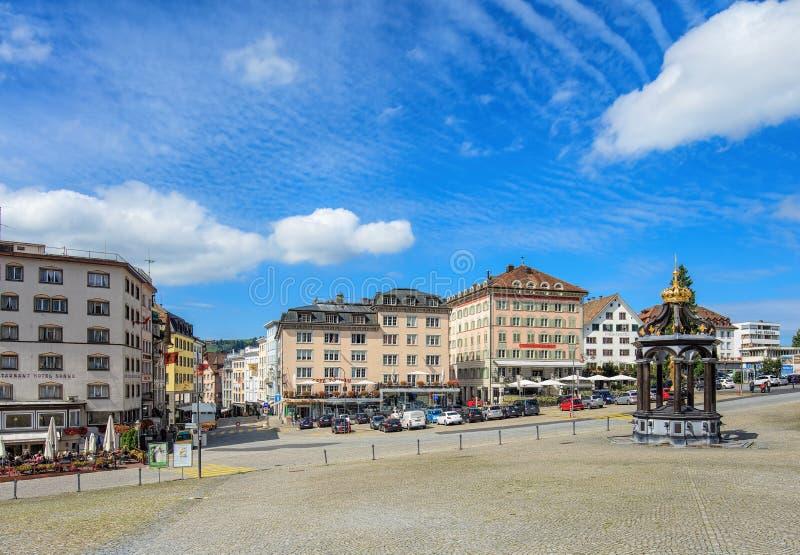 View In Einsiedeln Switzerland Editorial Photography Image of