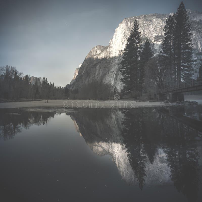 View of El Capitan in Yosemite National Park stock images