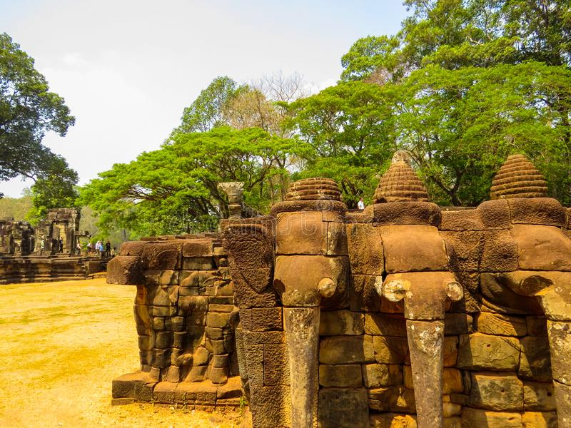 Elephant Terrace, Angkor Wat, Cambodia stock photo