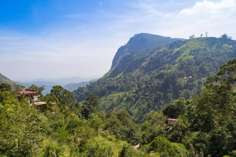 View of Ella Gap, Sri Lanka.  royalty free stock photography