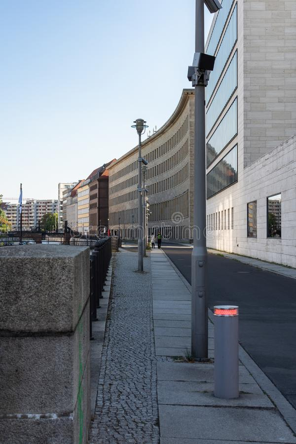 View of the embankment of the river Spree in Berlin royalty free stock photos