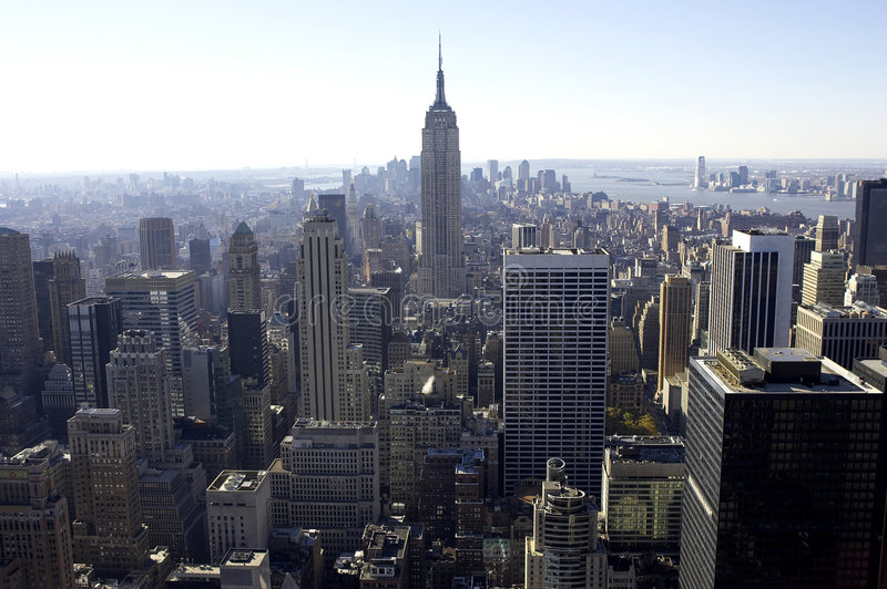 View of empire state building stock photography