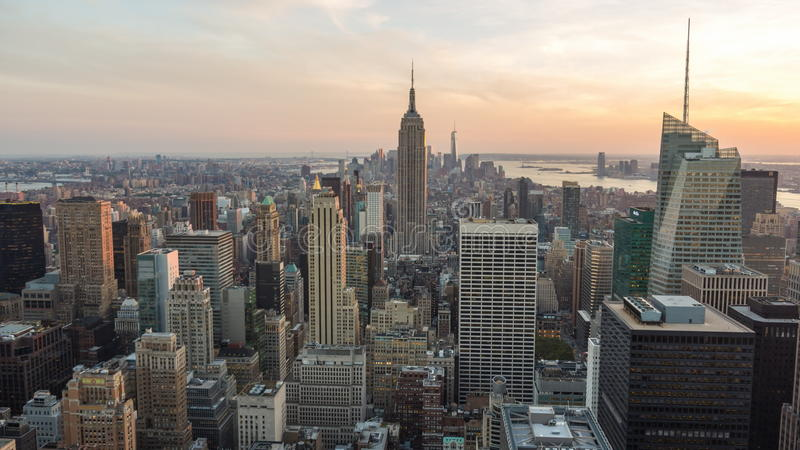 View Empire State Building in Manhattan skyline New York. View Empire State Building Manhattan skyline New York USA stock video footage