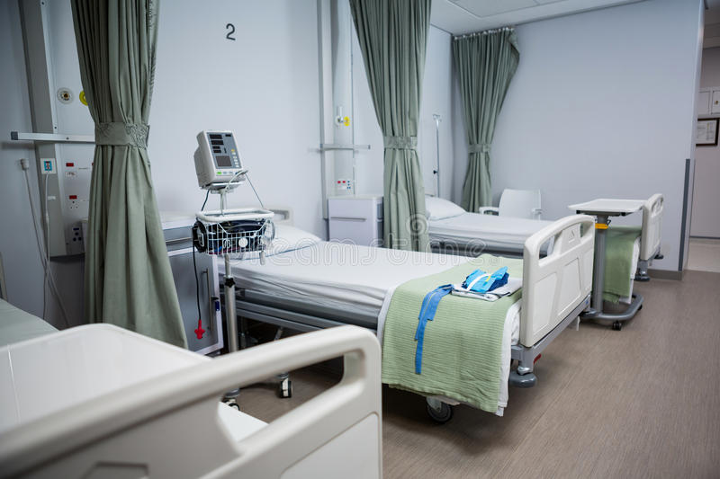 View of empty hospital beds in ward. Of hospital royalty free stock photography