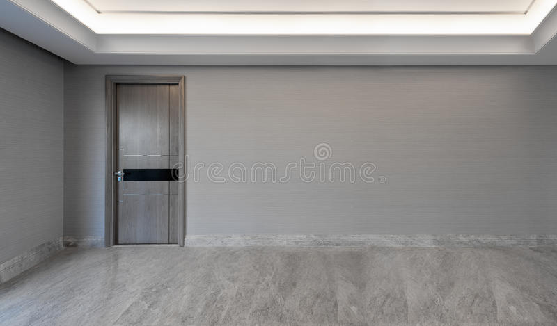 View into an empty living room. With walkway royalty free stock photography