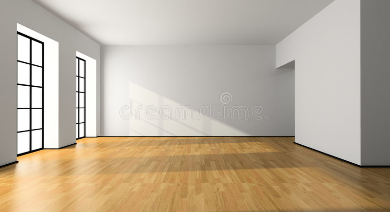 View of an empty room vector illustration