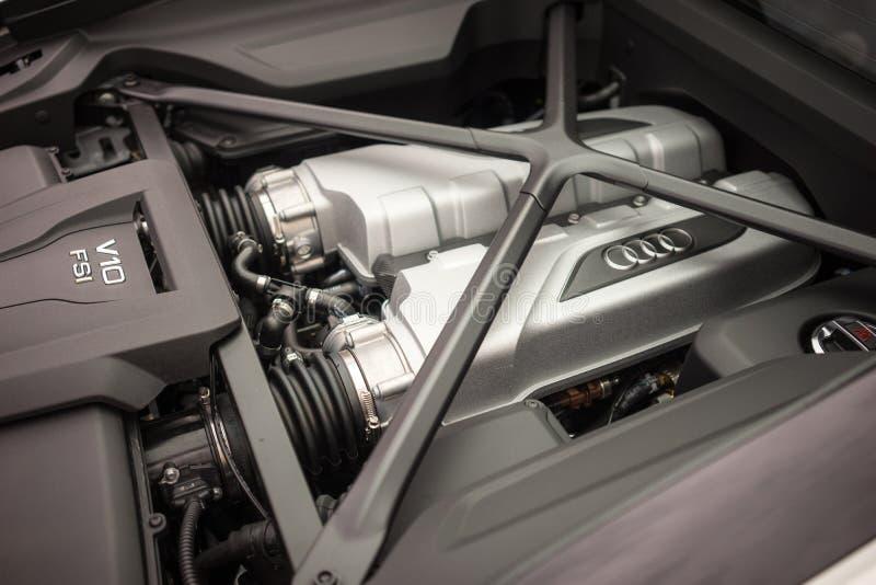 Audi Sports Car Engine stock photos