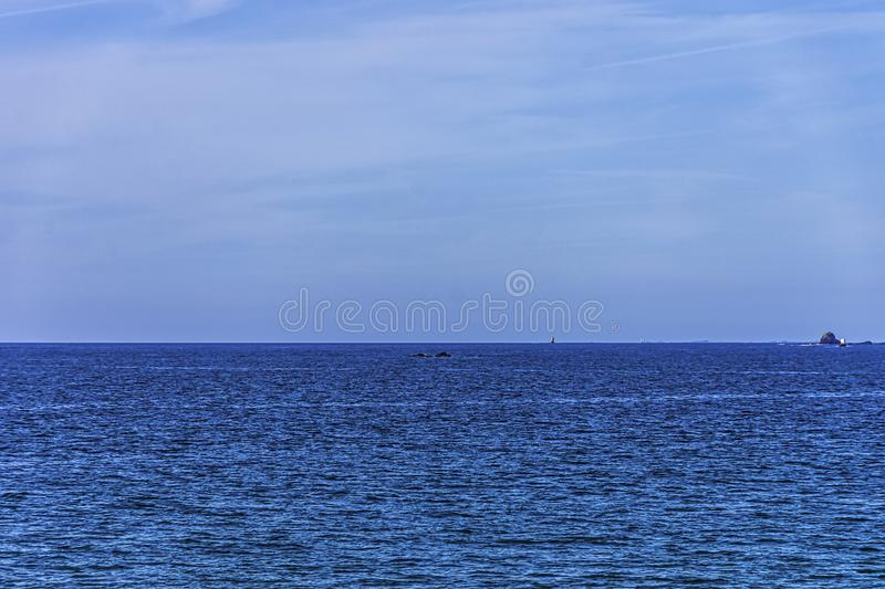 View of English Channel from French coast in Saint Malo stock photo