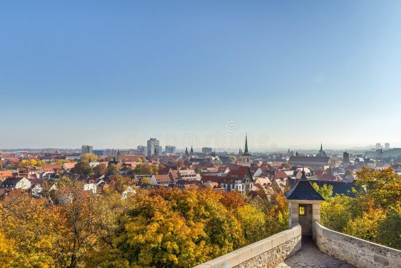 View of Erfurt, Duitsland royalty-vrije stock afbeelding