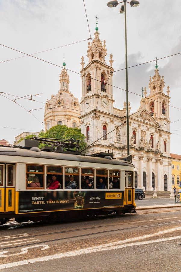 View of the Estrela church in Lisbon royalty free stock photo