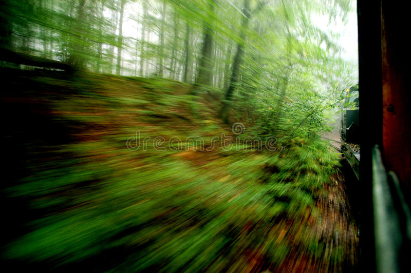 View from an express train stock photography