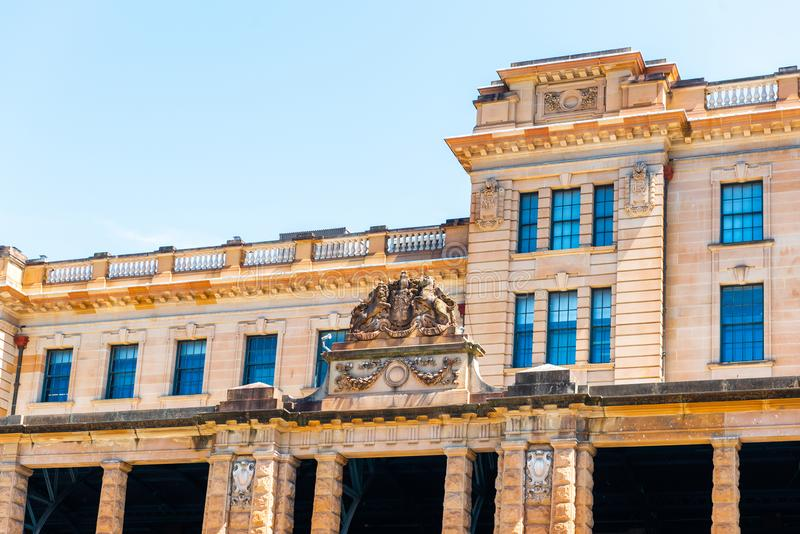 View of the facade of an historic building, Sydney, Australia.  royalty free stock photos