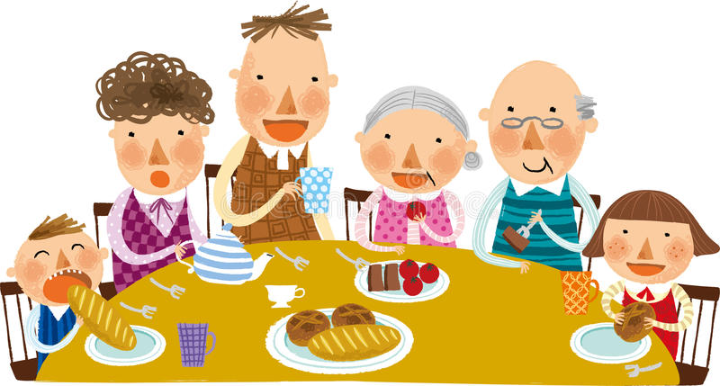 The view of family stock illustration