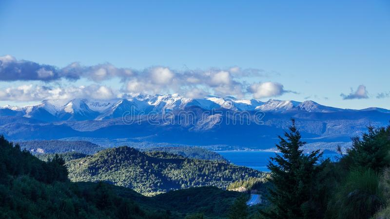 View of the famous national route 40 that covers all Patagonia Argentina. stock photo