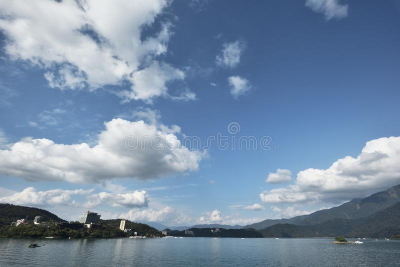 Sun Moon Lake. A view of the famous Sun Moon Lake in central Taiwan stock photo