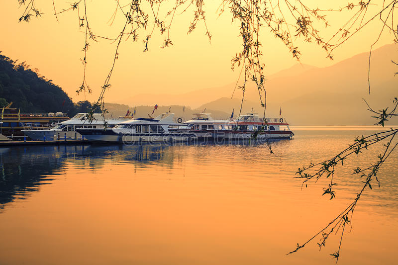 A view of the famous Sun Moon Lake. In Taiwan for adv or others purpose ues royalty free stock photos