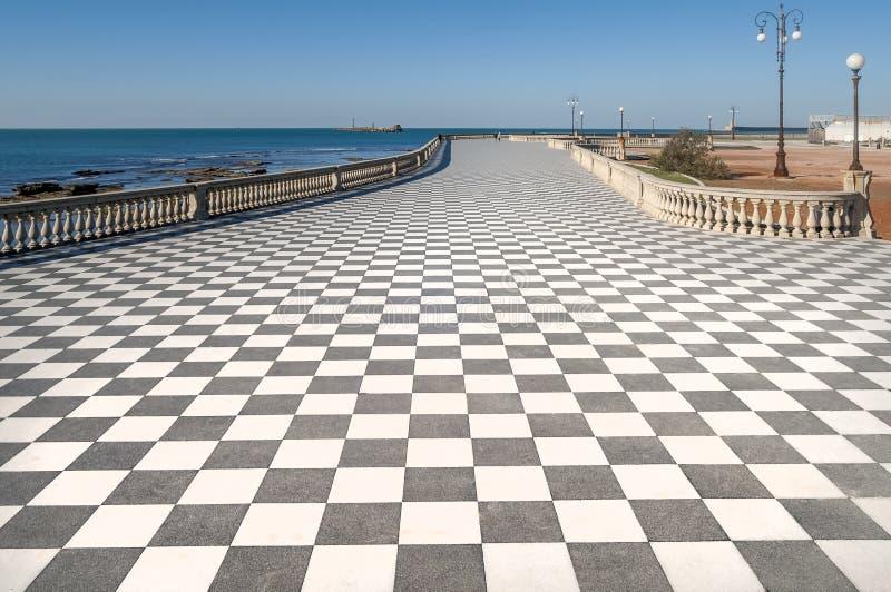 View of the famous Terrazza Mascagni in Livorno, Tuscany, Italy. Europe stock photo