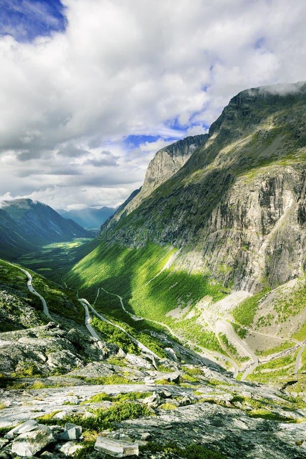 View on famous Trollstigen stock photo