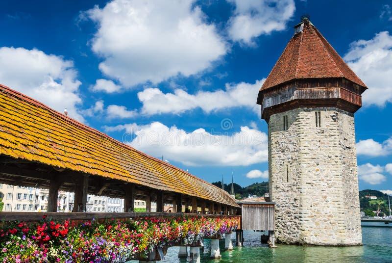 Download Chapel Bridge In Luzern, Switzerland Stock Image - Image: 30003707