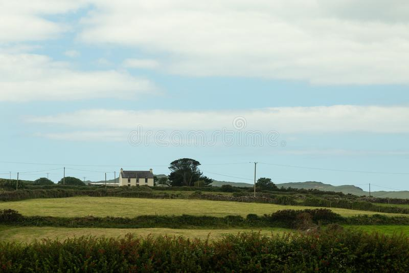 House on the Aran islands. View of a farm and house on the Aran island of Inishmoor stock photography