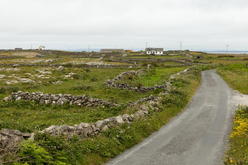 House on the Aran islands. View of a farm and house on the Aran island of Inishmore stock photography
