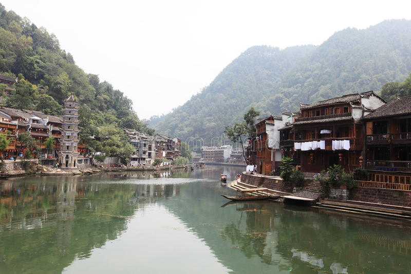 Download View of fenghuang stock image. Image of town, china, house - 10687729