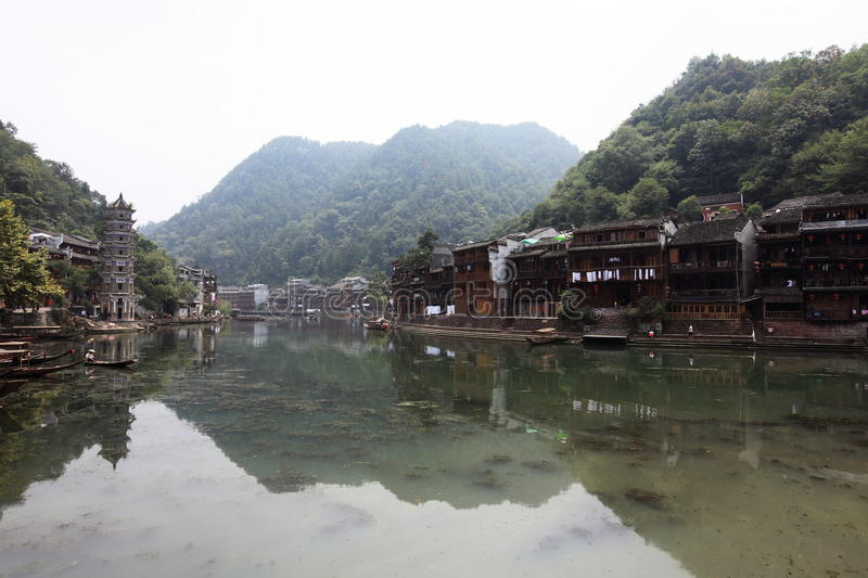 View Of Fenghuang Town Royalty Free Stock Photos
