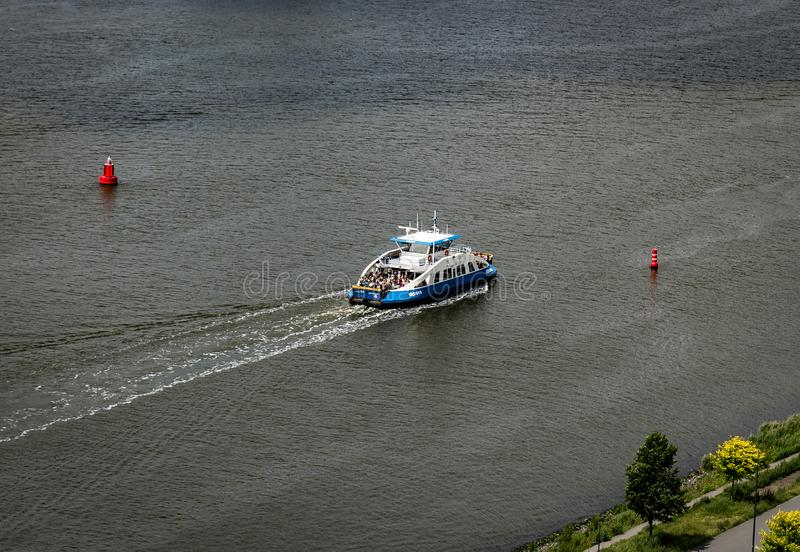 View of the ferry from the Adam Lookout. royalty free stock images