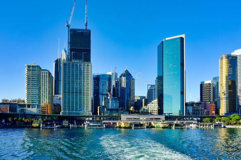Sydney CBD and Circular Quay Ferry Terminal, NSW, Australia royalty free stock photo