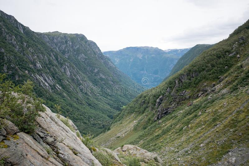 Fjord near Buer glacier, Norway royalty free stock images