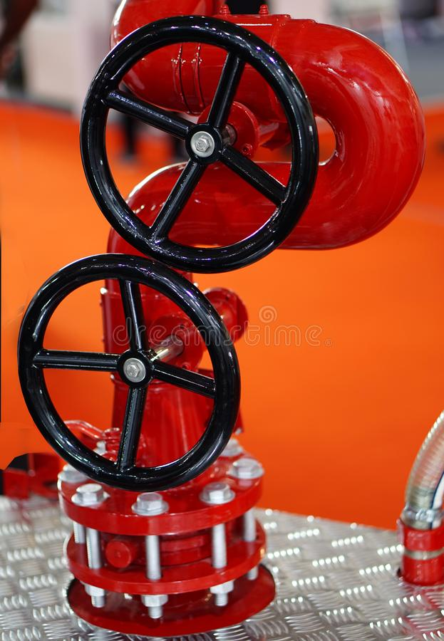 View of fire protection equipment  valve in an industry stock image