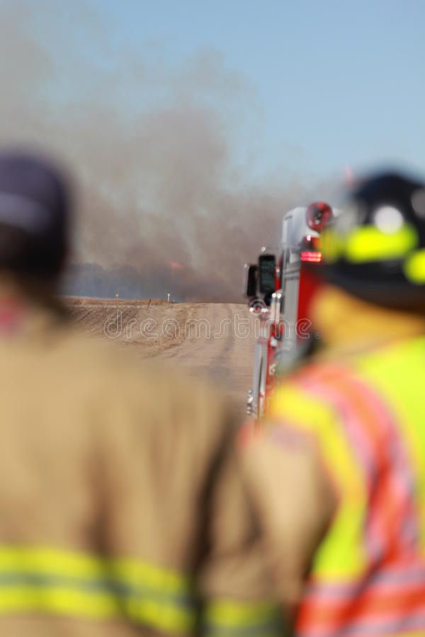 The view of the fireman royalty free stock photos