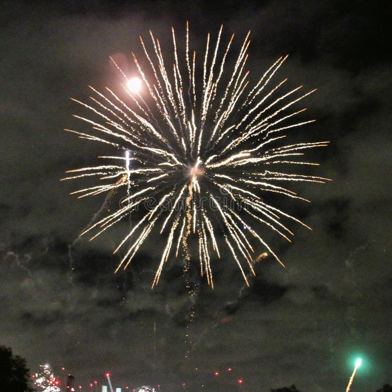 A view of a Firework Display stock photo