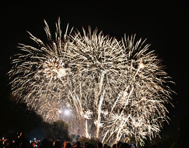 A view of a Firework Display stock images