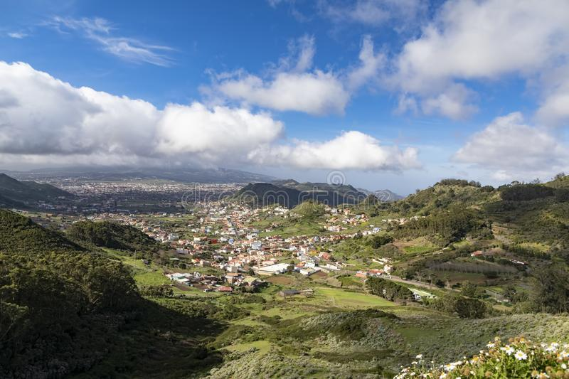View of the first capital of the island of Tenerife royalty free stock photography