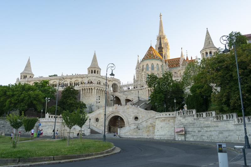 Fisherman`s Bastion in Budapest, awesome old fortress royalty free stock image