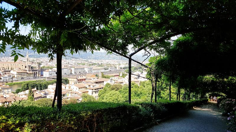 A view of Florence from Giardino Bardini, Italy royalty free stock photography