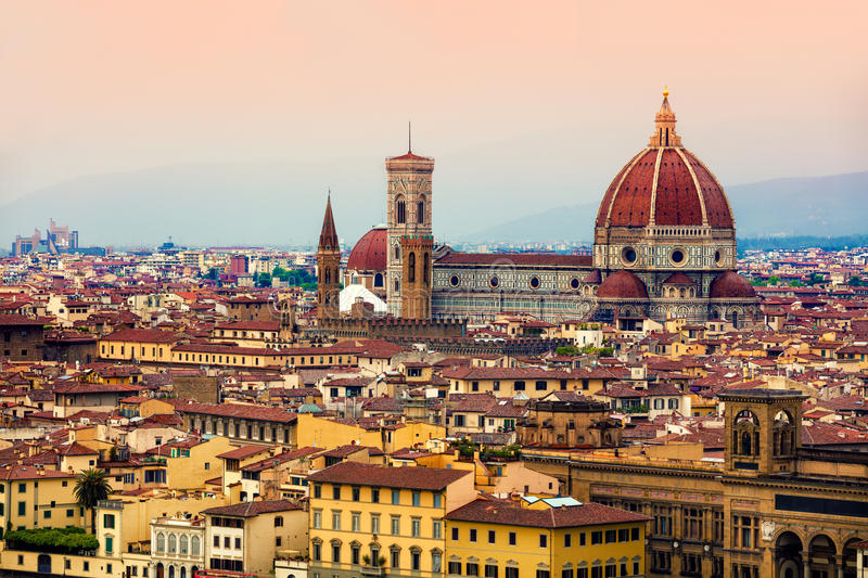 Italian Florence: View Of Florence From Piazzale Michelangelo Stock Photo