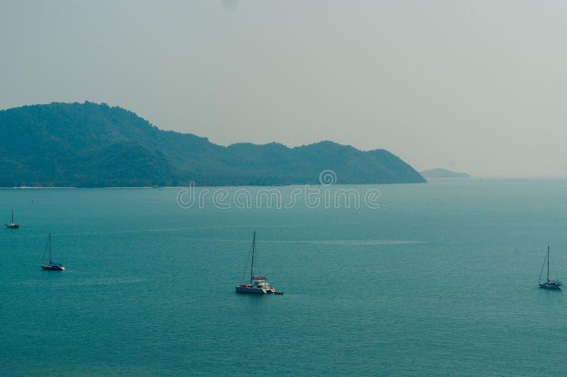 View form the Andaman Sea at Krating Cape, Nai Harn Beach,Rawai,phuket,thailand. View form the Andaman Sea at Krating Cape, Nai Harn Beach, Rawai,Bay, Phuket stock photos